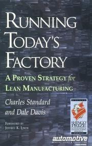 Cover of: Running today's factory