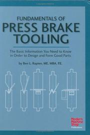 Cover of: Fundamentals of press brake tooling by Ben L. Rapien