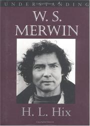 Cover of: Understanding W.S. Merwin