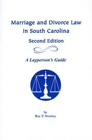 Cover of: Marriage and Divorce Law in South Carolina