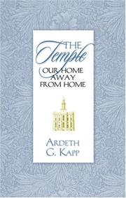 Cover of: The temple, our home away from home