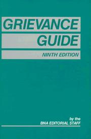 Cover of: Grievance guide |