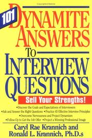 Cover of: 101 dynamite answers to interview questions