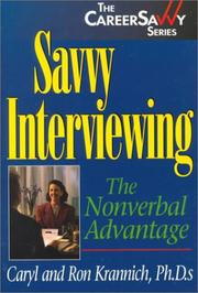 Cover of: Savvy Interviewing