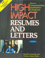 Cover of: High Impact Resumes and Letters, 8th Edition