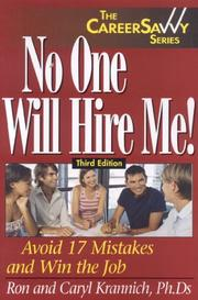 Cover of: No One Will Hire Me! | Caryl Krannich