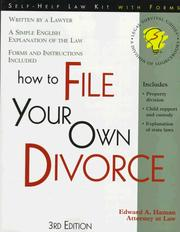 Cover of: How to file your own divorce | Edward A. Haman