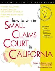 Cover of: How to win in small claims court in California | Royce Orleans Hurst