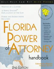 Cover of: Florida power of attorney handbook: with forms