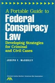 Cover of: A portable guide to federal conspiracy law