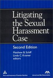 Cover of: Litigating the sexual harassment case |