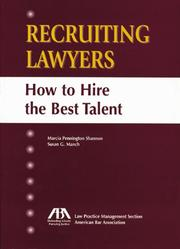 Cover of: Recruiting lawyers