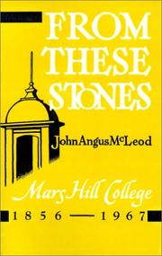 Cover of: From These Stones | John Angus McLeod