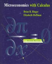 Cover of: Microeconomics with calculus by Brian R. Binger