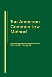 Cover of: The American common law method