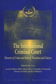 Cover of: The International Criminal Court |