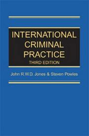 Cover of: International criminal practice