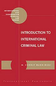 Cover of: Introduction to international criminal law