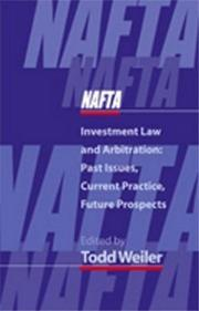 Cover of: NAFTA investment law and arbitration |