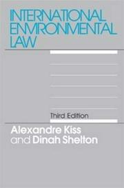 Cover of: International environmental law