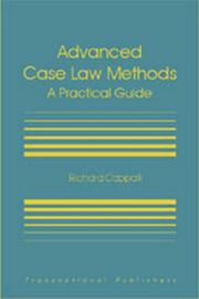 Cover of: Advanced case law methods