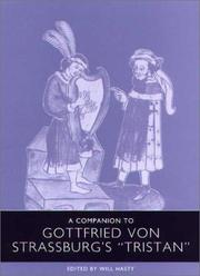 Cover of: A Companion to Gottfried von Strassburg's Tristan (Studies in German Literature Linguistics and Culture)