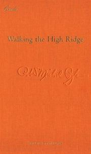 Cover of: Walking the high ridge