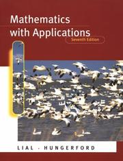 Cover of: Mathematics with applications | Margaret L. Lial