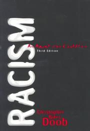 Cover of: Racism | Christopher Bates Doob