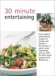 Cover of: 30 Minute Cooking: Entertaining