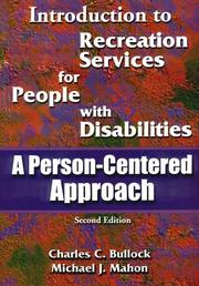 Cover of: Introduction to Recreation Services for People With Disabilities | Charles C. Bullock