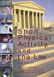 Cover of: Sport, Physical Activity, and the Law | Neil J. Dougherty