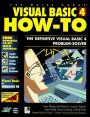 Cover of: Visual Basic 4 how-to |