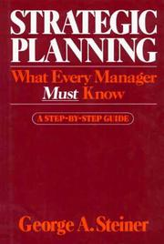 Cover of: Strategic planning