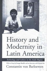 Cover of: Cultural history and modernity in Latin America