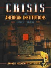 Cover of: Crisis in American institutions