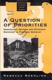 Cover of: A question of priorities