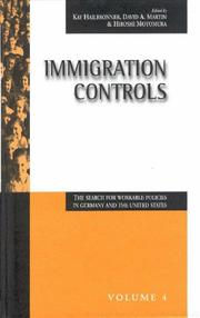Cover of: Immigration controls |