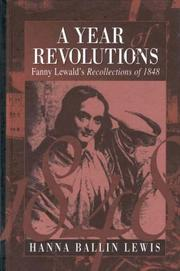 Cover of: A year of revolutions: Fanny Lewald's recollections of 1848