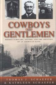 Cover of: Cowboys into gentlemen
