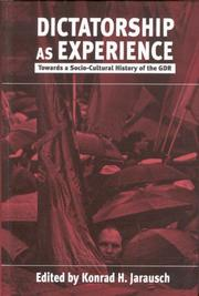 Cover of: Dictatorship As Experience |