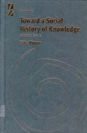 Cover of: Toward a social history of knowledge |