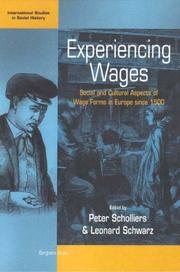 Cover of: Experiencing Wages | Pieter Scholliers