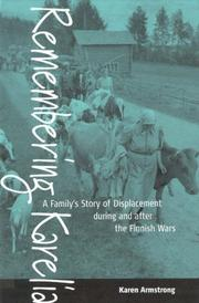 Cover of: Remembering Karelia: a family's story of displacement during and after the Finnish wars