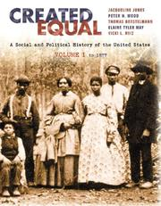 Cover of: Created Equal, Vol. 1 (Chapters 1-15) | Jacqueline Jones