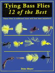 Cover of: Tying bass flies