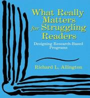 Cover of: What Really Matters for Struggling Readers