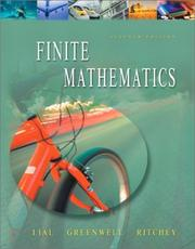 Cover of: Finite mathematics. | Margaret L. Lial