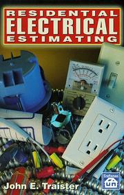 Cover of: Residential electrical estimating