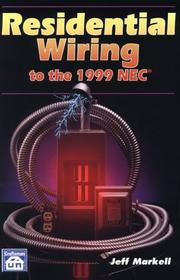 Cover of: Residential wiring to the 1999 NEC